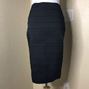 EUC Express | Bodycon Black Fitted Pencil Skirt XS